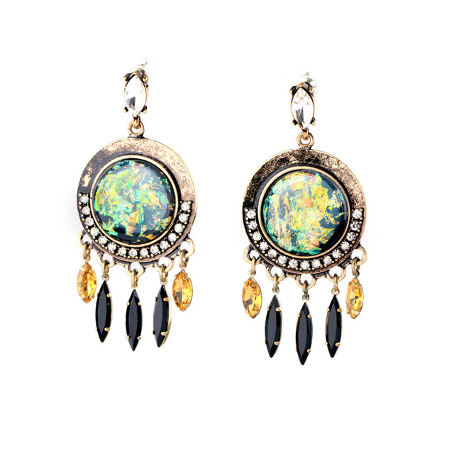 Le Fashion Royal Style Maxi Statement Earrings Online India Women Costume Jewelry