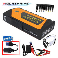 Hot sell For Petrol car Portable Power Supply 4USB 2018 New Multi function Car Jump Starter Emergency 9000mAh Automotive