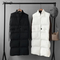 Harajuku Casual Long Cotton Vest Women Fashion 2018 Autumn Winter Warm Coat Woman Ladies Waistcoat Slim Black Plus Size Jacket