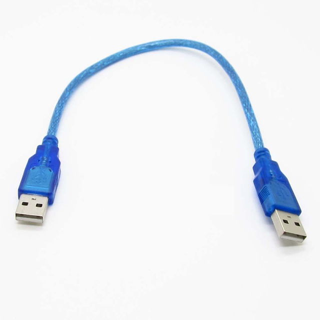 1pc 30cm Blue USB 2.0 Type A Male to USB Male Adapter Cable High Quality USB 2.0 Data Extension Cable Cord Mayitr 1