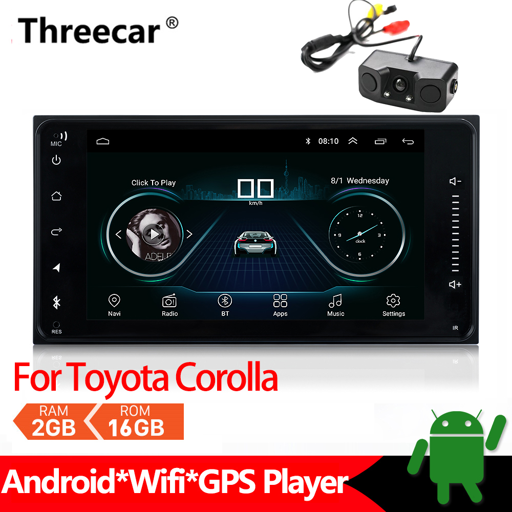US $103 02 22% OFF|Android Car Radio Multimedia Player For Toyota Corolla  Stereo GPS Navigation 2din Mirrorlink Android Bluetooth Car MP5 2+16GB-in