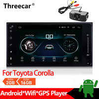 Android Car Radio Multimedia Player For Toyota Corolla Stereo GPS Navigation 2din Mirrorlink Android Bluetooth Car MP5 2+16GB