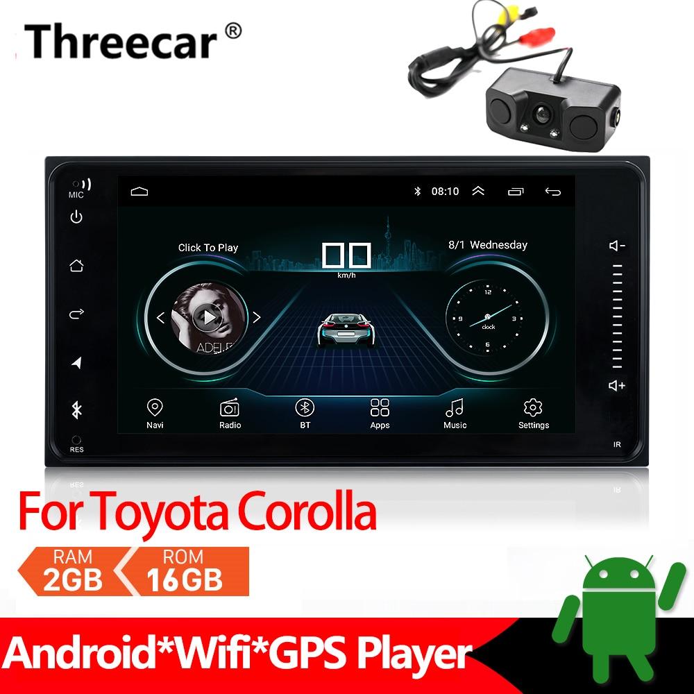Lecteur multimédia autoradio Android pour Toyota Corolla stéréo GPS Navigation 2din Mirrorlink Android Bluetooth voiture MP5 2 + 16 GB