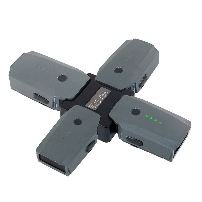 New 4in1 Intelligent Multi Battery Charger screen display Charging Hub for DJI MAVIC drop shipping 0515