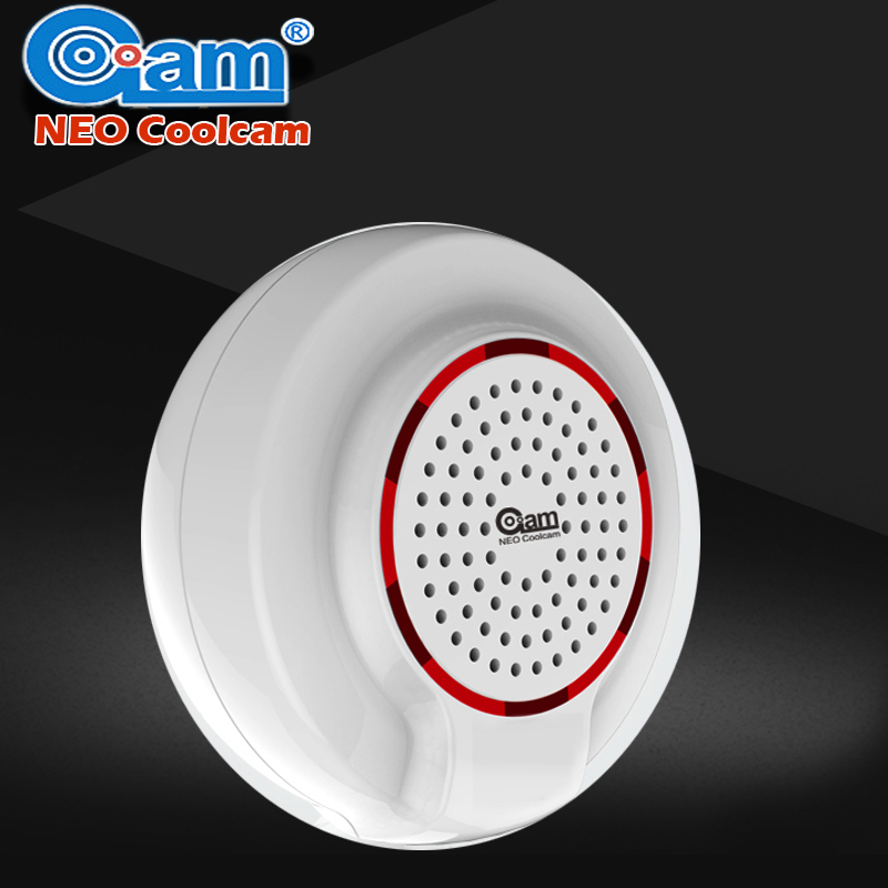 NEO COOLCAM Z-wave Wireless Siren Alarm Sensor Compatible with Z wave Plus Sensor Home Automation Alarm Smart House Security neo coolcam nas pd02z new z wave pir motion sensor detector home automation alarm system motion alarm system eu us version