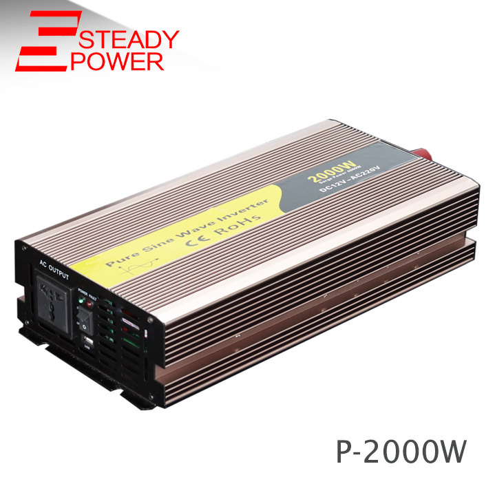 Wholesale products 2000w power inverter dc 12v 24v to ac 220v pure sine wave inverter from china supplier