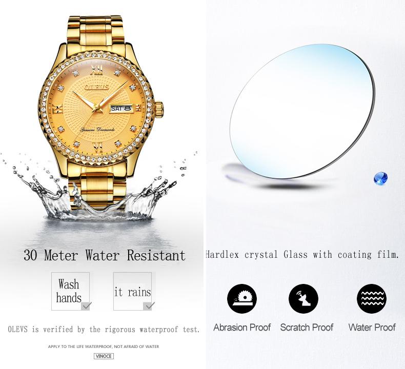 2018 OLEVS Luxury Brand Watch Men's Analog Quartz Auto Date Watches Man Waterproof Clock Men Sport Stainless Steel Wrist Watch 15