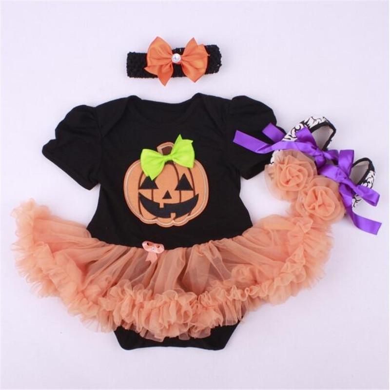 Halloween Newborn Tutu Dress ,Pumpkin Newborn Clothing Sets,Toddler Girls Decorate Festival Sets,Fashion Baby rompers set