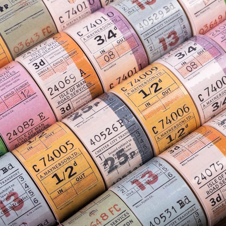 30mm*5m Retro Ticket Washi Tape Stickers Scrapbooking DIY Vintage Masking Tape Bullet Journal School Office Supplies sl1985