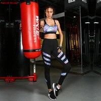 Women Workout Suit Sexy Floral Print Crop Tank Tops Stretch Elastic Track Leggings Fitness Yoga Sport Wear Gym 2 Piece Set 30
