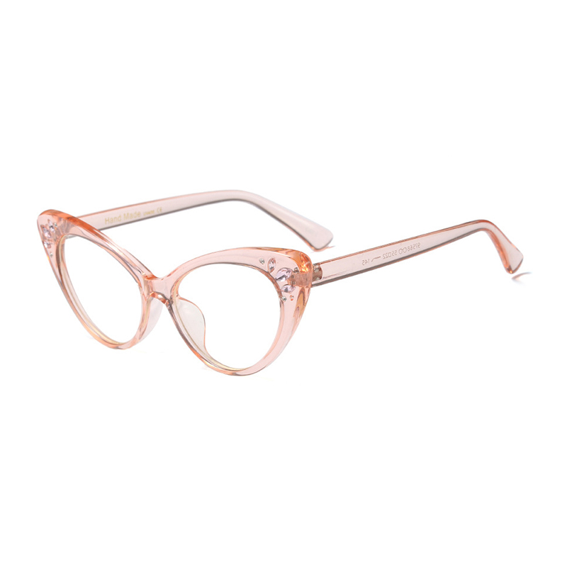 women 39 s frame degree eyeglasses Vintage Fashion Cat Eye Diamond Student spectacle frames glasses transparent oculos de grau H5 in Women 39 s Eyewear Frames from Apparel Accessories