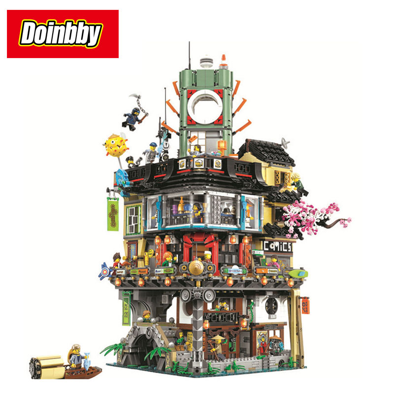 Bela 10727 4953pcs New Ninja Movie Great Creative City Construction Building Block Brick Toys Compatible Legoings Ninjagoes