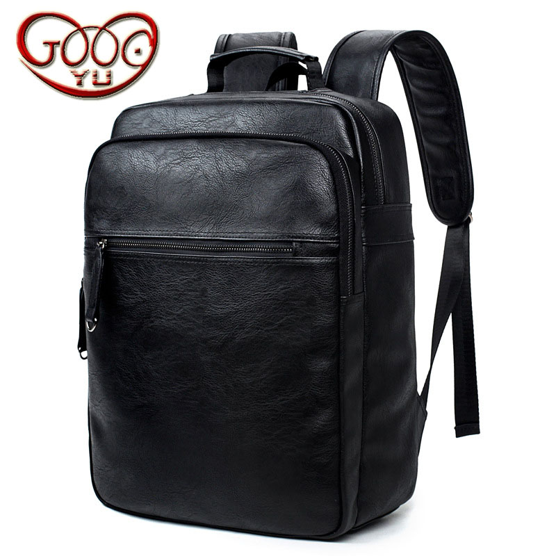 Burst models PU leather shoulder bag male Korean version of the travel backpack large capacity portable student computer bag new playeagle waterpoof pu leather golf boston bag golf clothing bag large capacity travel bag with shoes pocket oem logo