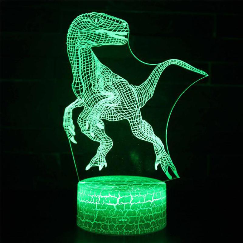 Illusion Animal Dinosaur 3d Lamp Decorative Design Poke ...