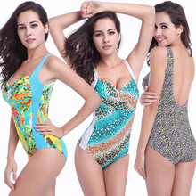 Twist Top Double shoulders Bathing suits Big Female Large Women Fat MM Plus size XXXL Maternity One Pice Swimsuit Dropshipping(China)