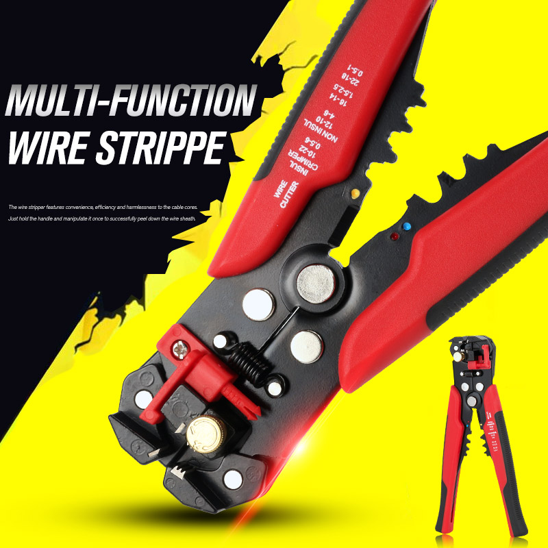 Wire Stripper Cable Cutter Crimper Wire Pliers Automatic Multifunctional TAB Terminal Crimping Stripping Pliers Multitool Tools in Pliers from Tools