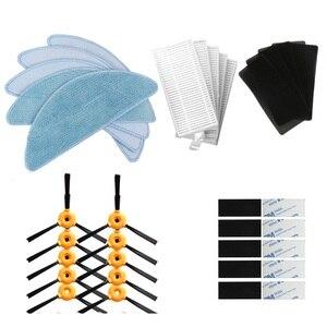 Image 1 - 10 * escova lateral + 5 * filtro HEPA + 5 * esponja + 5 * mop pano + 10 * pasta mágica Para a EXCELÊNCIA do CONGA Robotic Vacuum Cleaner Parts