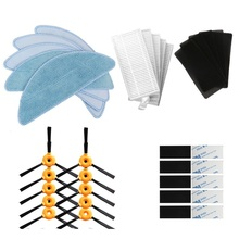 10* side brush +5 * HEPA filter +5 * sponge +5 * mop cloth +10 * magic paste For CONGA EXCELLENCE Robotic Vacuum Cleaner Parts
