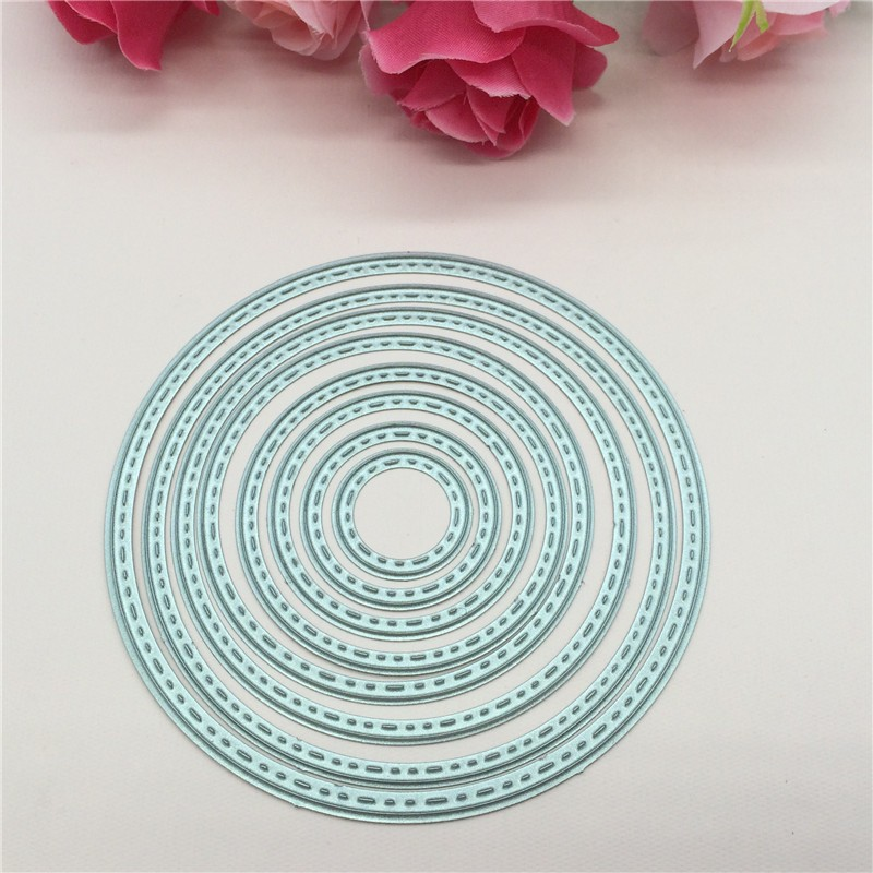 8pcs Circles Cutting Nesting Dies Stencil Scrapbooking Paper Card Craft DIY Gift