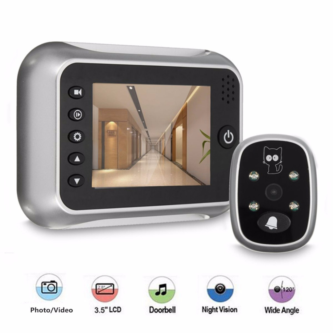 3.5 Wireless LCD Video Digital Door Monitor Peephole Doorbell Viewer Camera Viewer Doorbell for Home Door Bell