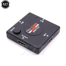 1 pcs 1080 P Mini 3 Pelabuhan HDMI Switcher Beralih Splitter HDMI 3 input 1 Output Box Selector untuk HDTV Vedio Selector terbaru(China)