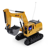 EBOYU 258 1 2.4Ghz 6CH 1:24 RC Excavator Mini RC Truck Rechargeable Simulated Excavator Gift Toy for Kids