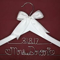 Personalized Wedding Hanger Bridesmaid Gifts Name Hanger Brides Hanger Custom Bridal Gift White Hanger