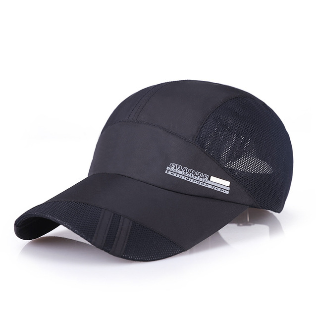 208206dde68 2017 fashion male sun hat thin cotton breathable thin baseball cap female mesh  visor cool