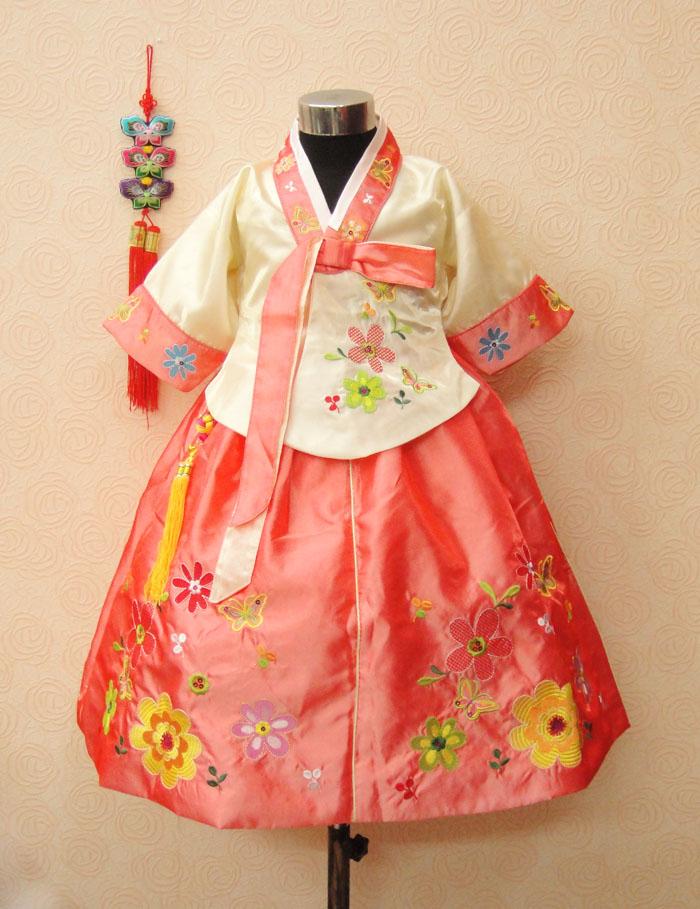Trušu meiteņu hanbok bērnu apģērbu kleita pavasara un rudens - Bērnu apģērbi - Foto 4