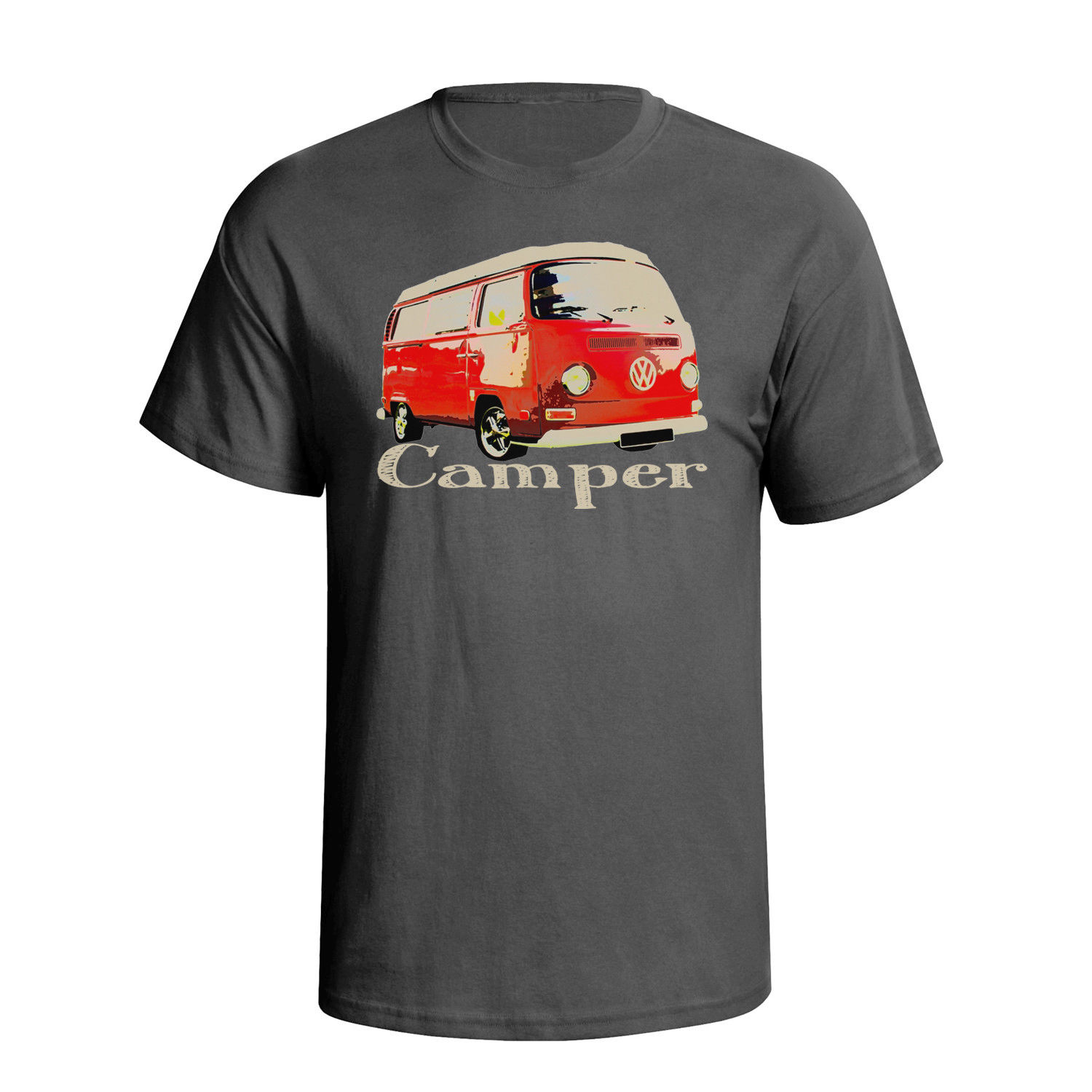 2018 New Fashion Cool Tee Shirt Fashion Campervan Car Art Mens T-Shirt Custom T-shirt