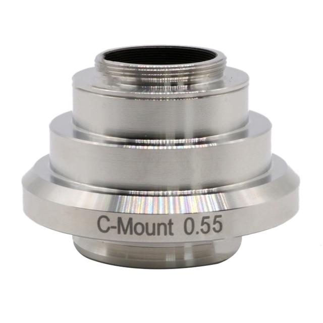 0.55x 현미경 c 마운트 c 마운트 cmos ccd 카메라 어댑터 포트 leica uis dm 시리즈 trinocular 현미경 용 릴레이 렌즈 감소