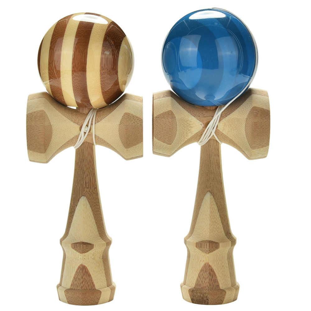 Skill ของเล่น 2 รูปแบบสุ่มสไตล์ไม้ไผ่ Jumbo Kendama Juggle เกมบอลหยกดาบสำหรับผู้ใหญ่ญี่ปุ่นแบบดั้งเดิมของเล่น