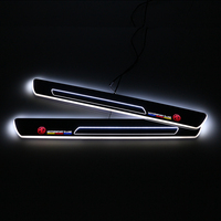 SNCN LED Car Scuff Plate Trim Pedal Door Sill Pathway Moving Welcome Light For MG ZR MG3 2011 2014 2015 2016 2017 Accessories