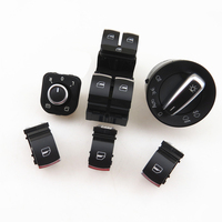 READXT Car Chrome Headlight Mirror Window Control Switch Button For Passat B6 3C CC Golf 5 MK5 6 MK6 Plus TIGUAN RABBIT