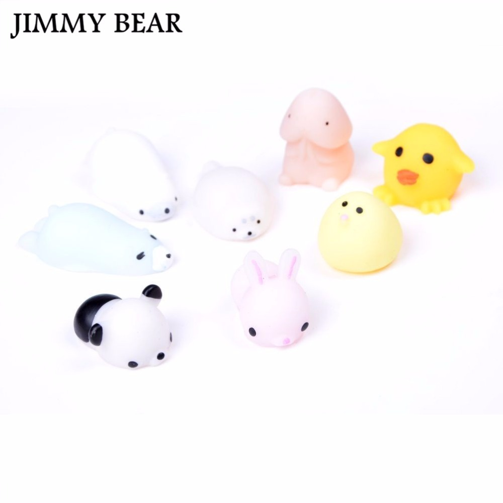 JIMMY BEAR 5 Pcs/Set Vent Toys Animal Funny Simulation Anti-stress Toys Stress Pressure Reliever