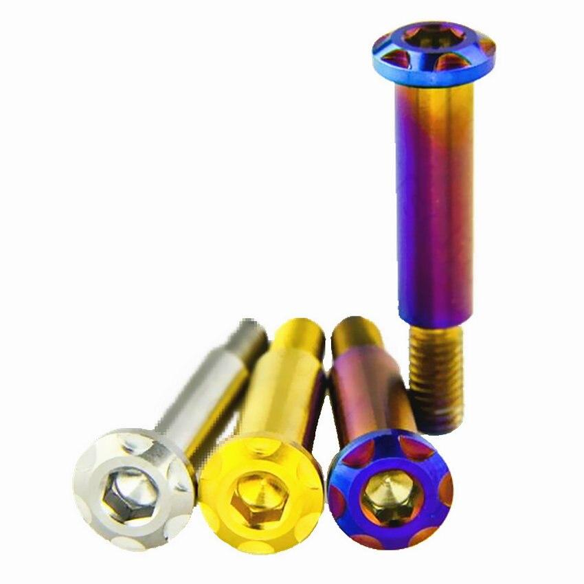 все цены на Titanium Bolts for BREMBO TC4 Pull Rod Adjusting Screw Ti Bolts Blue/Gold for Motorcycle Ti Screw Ti Fasteners 1/6pcs онлайн