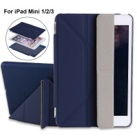 Redlai Magnetic Wake Sleep Stand Flip Smart Case For Apple IPad Mini 3 Muti Fold Stand