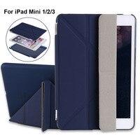 Redlai Magnetic Wake Sleep Stand Flip Smart Case For Apple IPad Mini 3 Muti Fold Stand