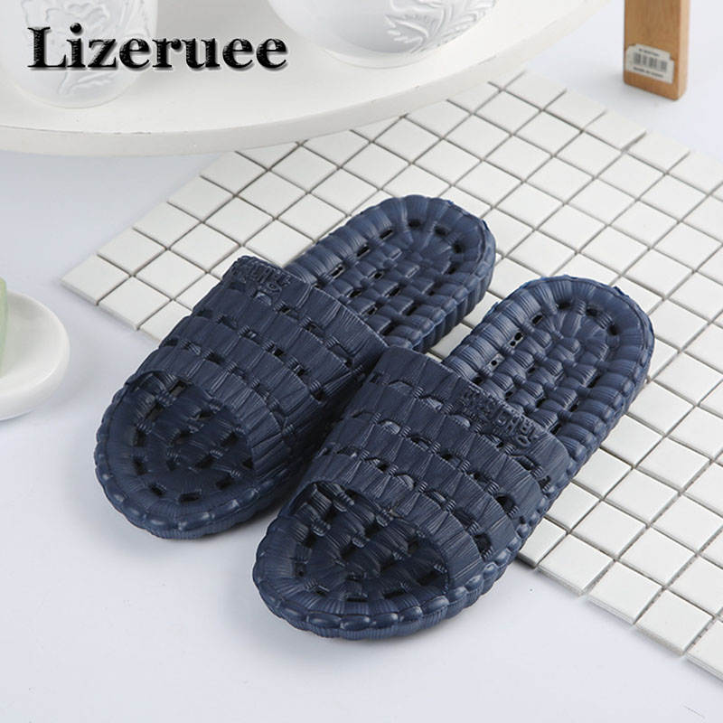 2018 New Arrival Men's Slippers Indoor Home Non-slip Massage Slippers Couples Bathroom Slippers Beach Slippers Wholesale Q91