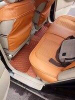 Car Floor Mats For Hummer H2 H3 Foot Rugs Custom Auto 3D Carpets Black Brown