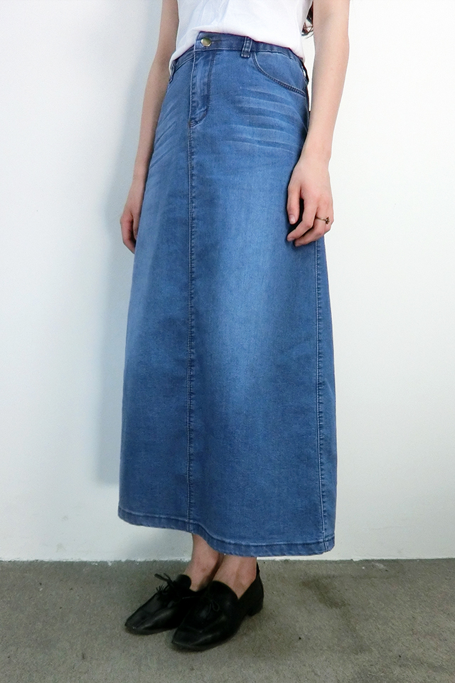 Long Blue Jean Skirts Plus Size - Skirts