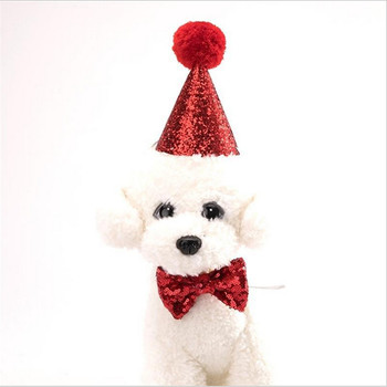Caps For Dogs Pet Cat Dog Birthday Bowknot Costume Headwear Caps Hat Birthday Party Costume Headwear Pet Accessory 1
