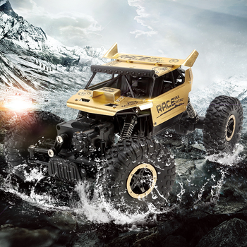 RC Speed Racing Car Flytec 9118 1:18 Alloy 2.4G 4WD High Speed Climbing Rock Car Racing Off-Road Vehicle Toy Toys for Children