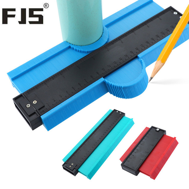 5/10 Inch Contour Gauge Plastic Profile Copy Gauge  Profile Jig Guide Marking For Tile Edge Shape Copy Measuring Tool