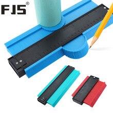 Medidor de bitola de contorno 5/10, ferramenta de medição de perfil de plástico, cópia e guia de gabarito para telha, marcação de borda