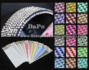 828Pcs Car Auto Interior Sticker Crystal Design Rhinestone 22449603c9e9