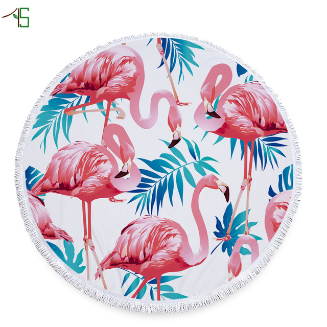 cool beach towels for girls. Microfiber Summer Sea Cool Beach Towels Round Flamingos Cute Bath Towel Print Swimwear Cloak Shawl Yoga For Girls