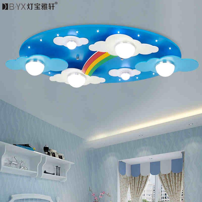 Buy surface mounted children ceiling lamps kids bedroom cartoon rainbow - Licht kinderzimmer ...