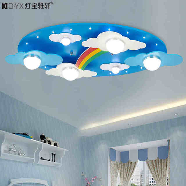 Surface Mounted Children Ceiling Lamps Kids Bedroom Cartoon Rainbow Decoration Chandelier Light E27 Source