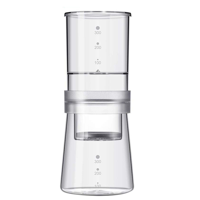 Offre spéciale 300 Ml fait maison en verre infusé à froid cafetière réglable glace eau goutte à goutte Pot goutteur en verre Carafe cafetière néerlandaise
